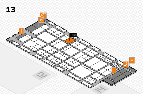 interpack 2017 hall map (Hall 13): stand D63