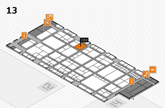 interpack 2017 Hallenplan (Halle 13): Stand D63