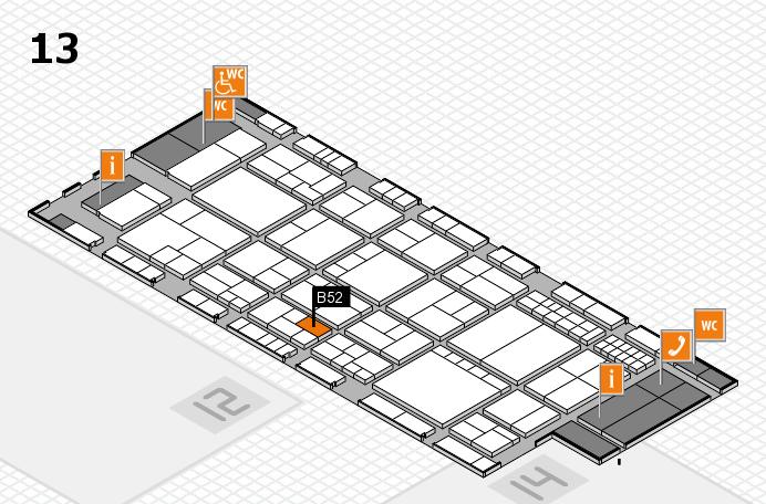 interpack 2017 Hallenplan (Halle 13): Stand B52