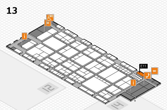 interpack 2017 Hallenplan (Halle 13): Stand E11