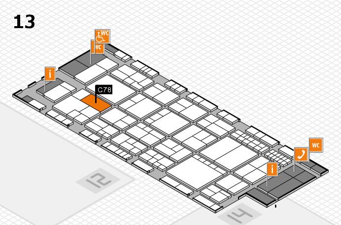interpack 2017 Hallenplan (Halle 13): Stand C78
