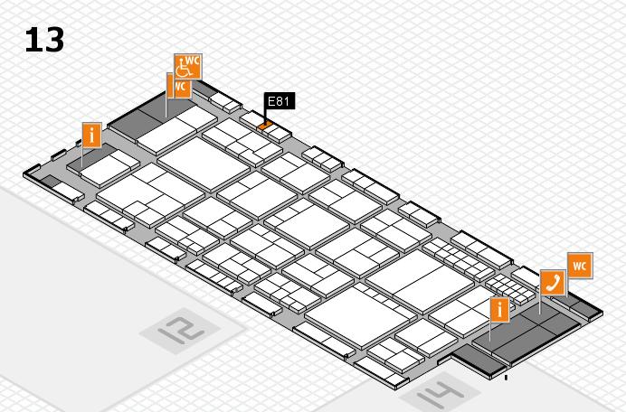 interpack 2017 Hallenplan (Halle 13): Stand E81