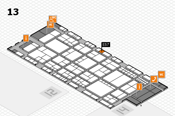 interpack 2017 hall map (Hall 13): stand E57