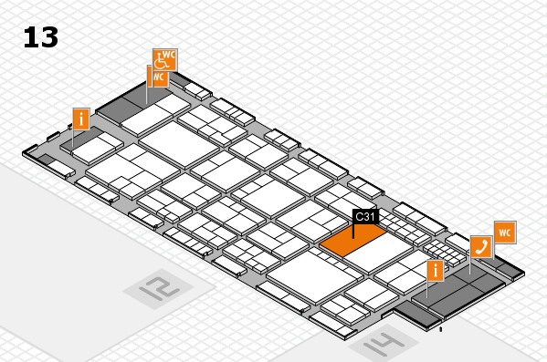 interpack 2017 hall map (Hall 13): stand C31