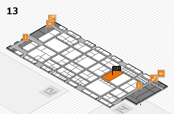 interpack 2017 Hallenplan (Halle 13): Stand C31