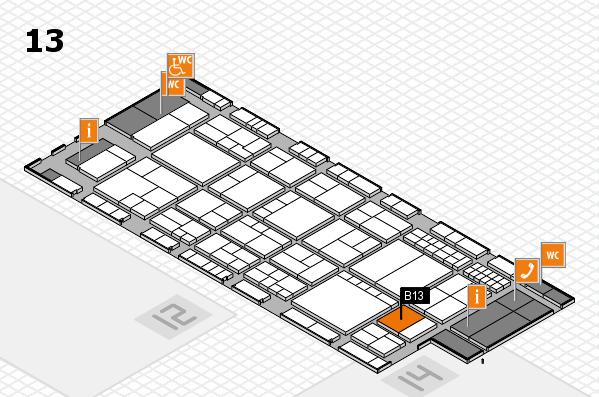 interpack 2017 Hallenplan (Halle 13): Stand B13