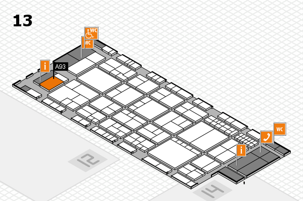 interpack 2017 hall map (Hall 13): stand A93
