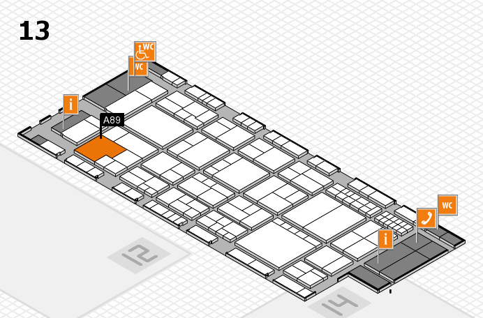 interpack 2017 hall map (Hall 13): stand A89