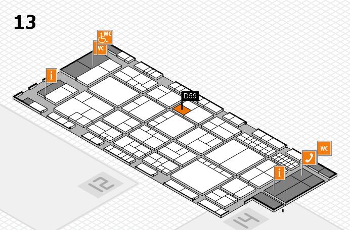 interpack 2017 Hallenplan (Halle 13): Stand D59