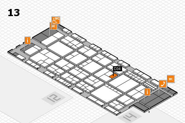 interpack 2017 Hallenplan (Halle 13): Stand D34