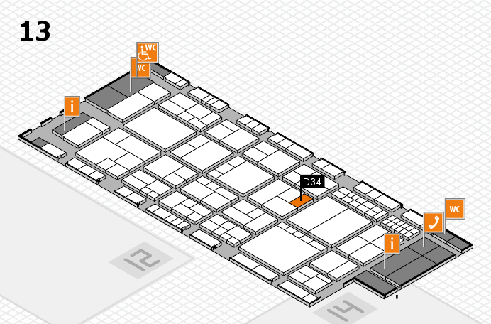 interpack 2017 hall map (Hall 13): stand D34