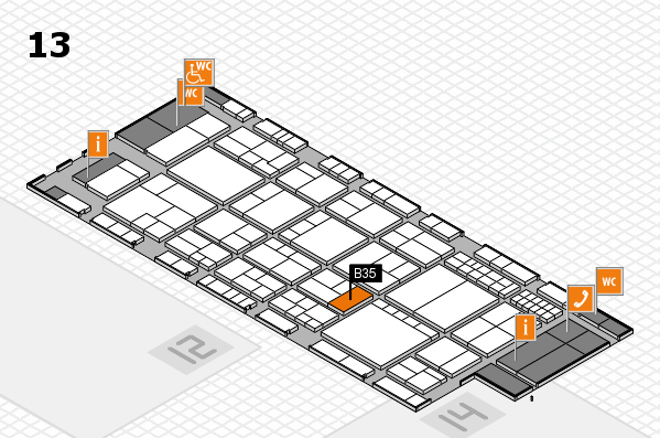 interpack 2017 hall map (Hall 13): stand B35