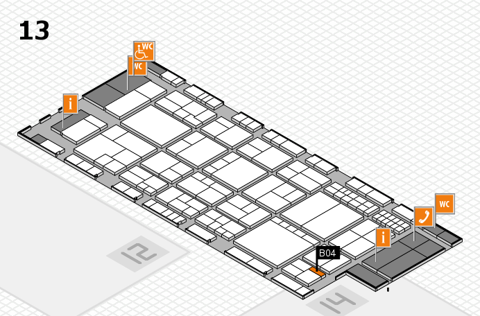 interpack 2017 hall map (Hall 13): stand B04