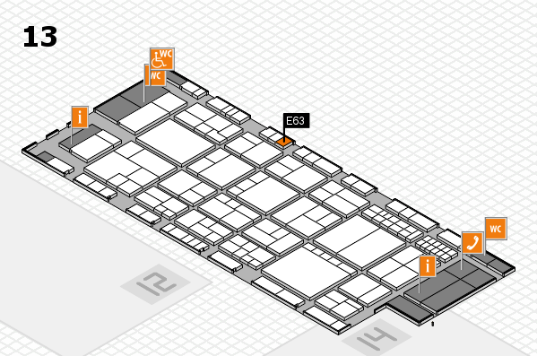 interpack 2017 hall map (Hall 13): stand E63