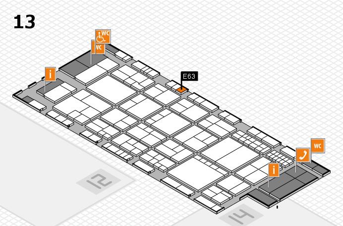 interpack 2017 Hallenplan (Halle 13): Stand E63