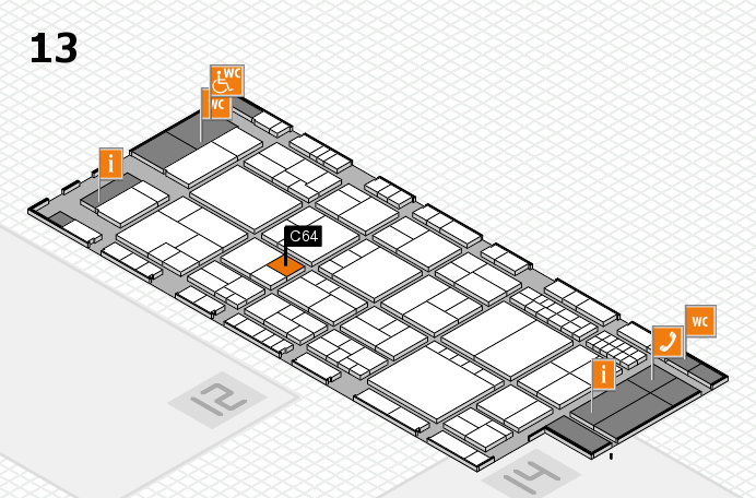 interpack 2017 hall map (Hall 13): stand C64
