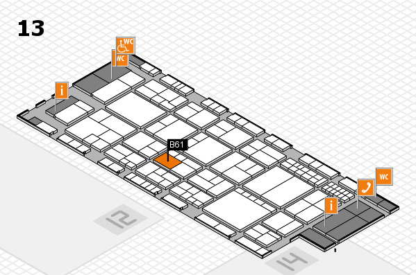 interpack 2017 hall map (Hall 13): stand B61