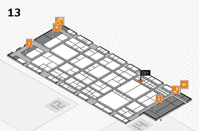 interpack 2017 hall map (Hall 13): stand D21