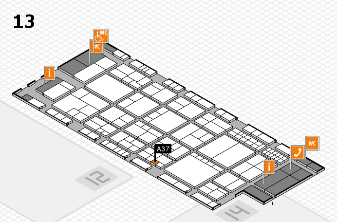 interpack 2017 hall map (Hall 13): stand A37