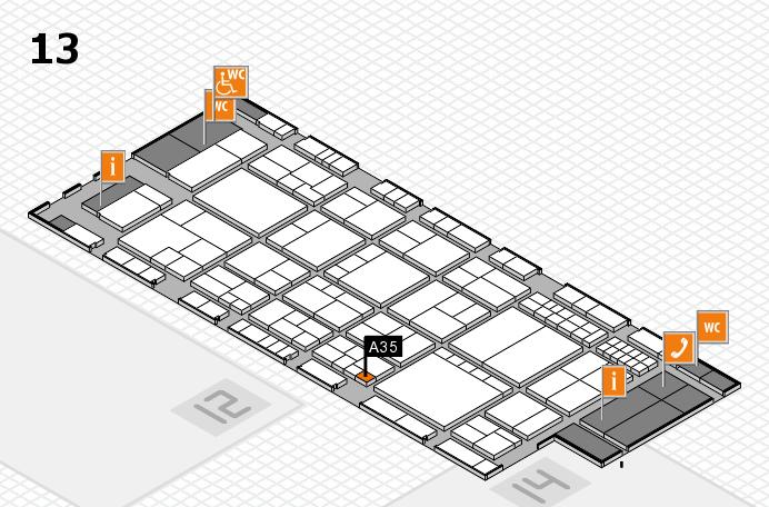 interpack 2017 Hallenplan (Halle 13): Stand A35