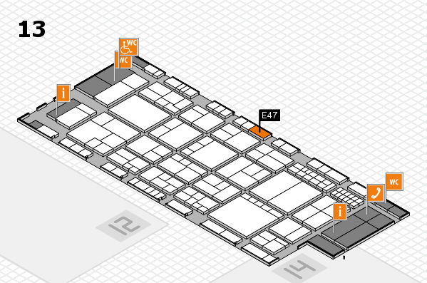 interpack 2017 hall map (Hall 13): stand E47