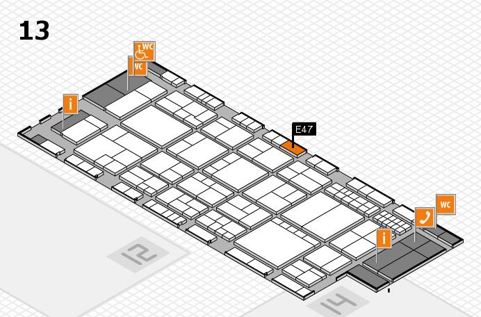 interpack 2017 Hallenplan (Halle 13): Stand E47