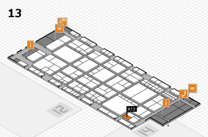 interpack 2017 Hallenplan (Halle 13): Stand A13
