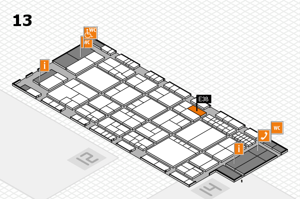 interpack 2017 hall map (Hall 13): stand E38