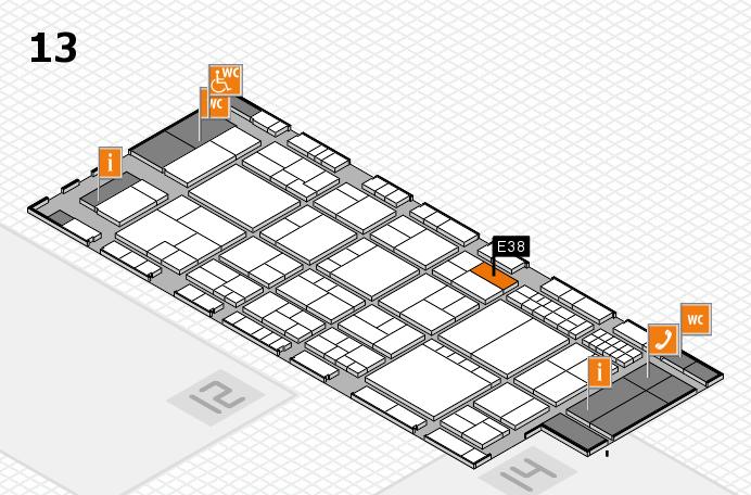 interpack 2017 Hallenplan (Halle 13): Stand E38
