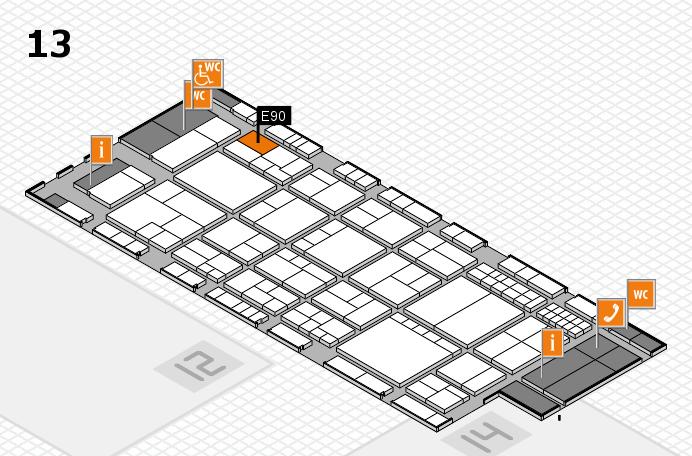interpack 2017 Hallenplan (Halle 13): Stand E90