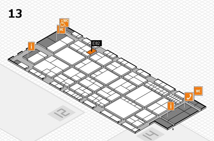 interpack 2017 Hallenplan (Halle 13): Stand E82