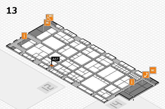 interpack 2017 hall map (Hall 13): stand A67