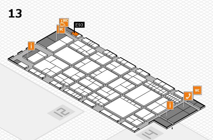interpack 2017 Hallenplan (Halle 13): Stand E93