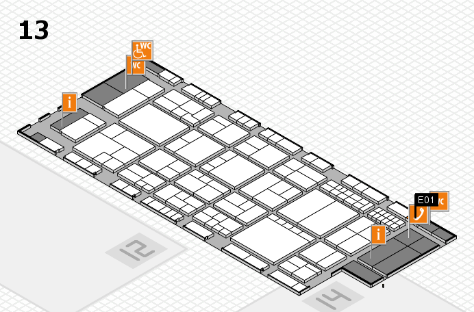 interpack 2017 hall map (Hall 13): stand E01
