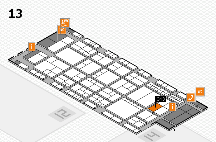 interpack 2017 hall map (Hall 13): stand C13