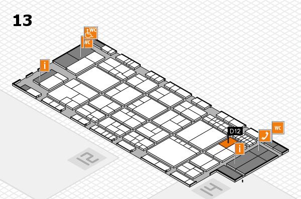interpack 2017 Hallenplan (Halle 13): Stand D12