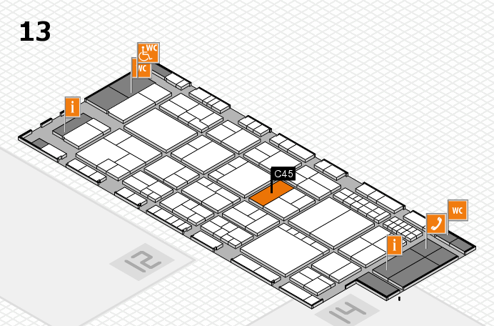 interpack 2017 hall map (Hall 13): stand C45
