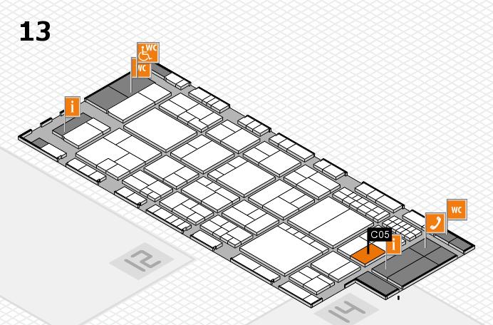 interpack 2017 Hallenplan (Halle 13): Stand C05