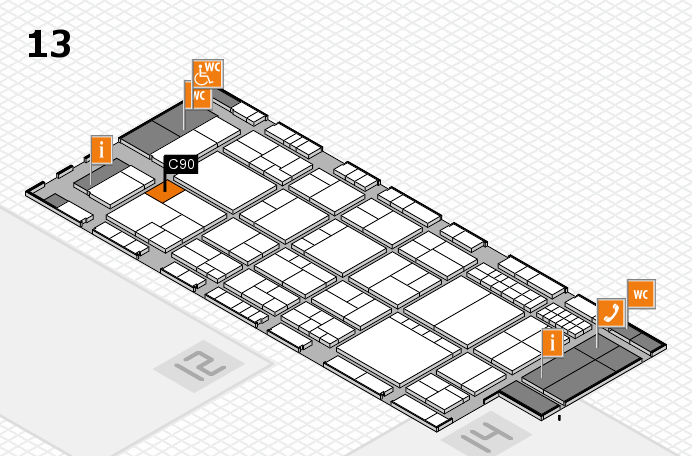 interpack 2017 Hallenplan (Halle 13): Stand C90