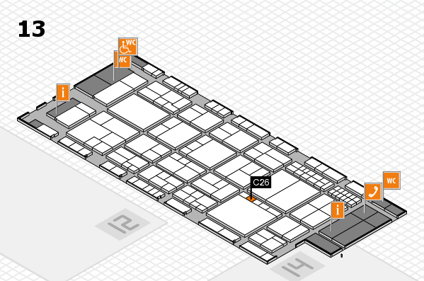 interpack 2017 hall map (Hall 13): stand C26