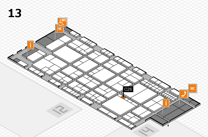 interpack 2017 Hallenplan (Halle 13): Stand C26