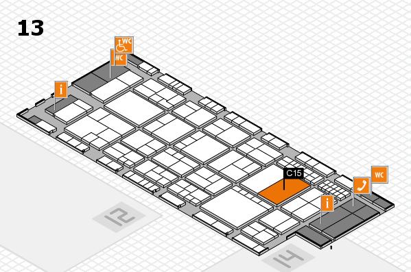interpack 2017 Hallenplan (Halle 13): Stand C15