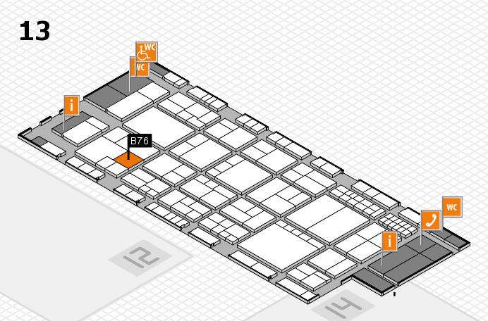 interpack 2017 Hallenplan (Halle 13): Stand B76