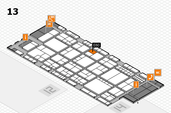 interpack 2017 hall map (Hall 13): stand E60
