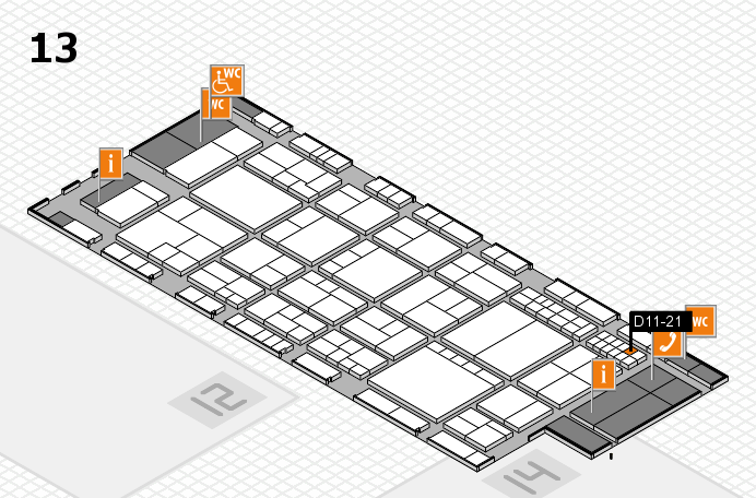 interpack 2017 hall map (Hall 13): stand D11-21