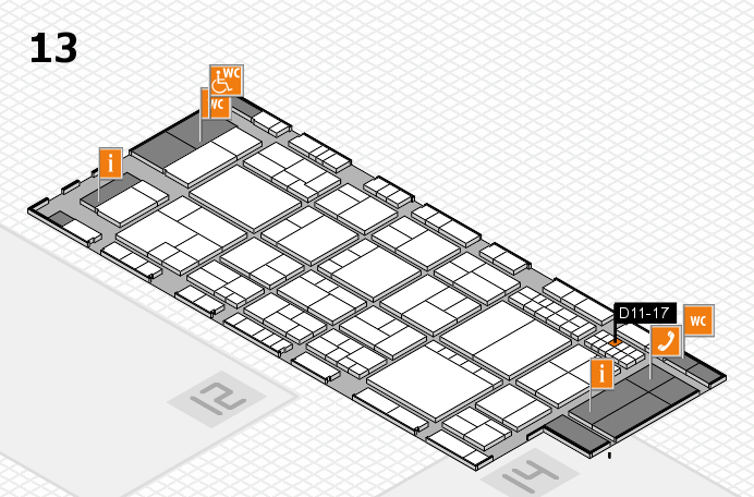 interpack 2017 hall map (Hall 13): stand D11-17
