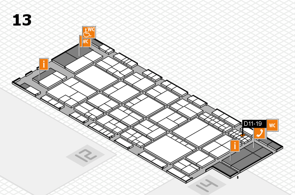 interpack 2017 hall map (Hall 13): stand D11-19