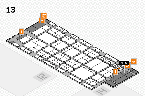 interpack 2017 hall map (Hall 13): stand D11-9