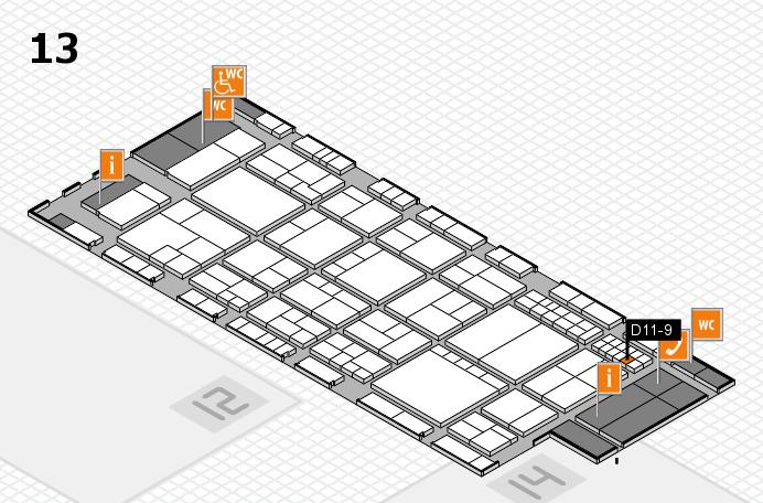 interpack 2017 Hallenplan (Halle 13): Stand D11-9