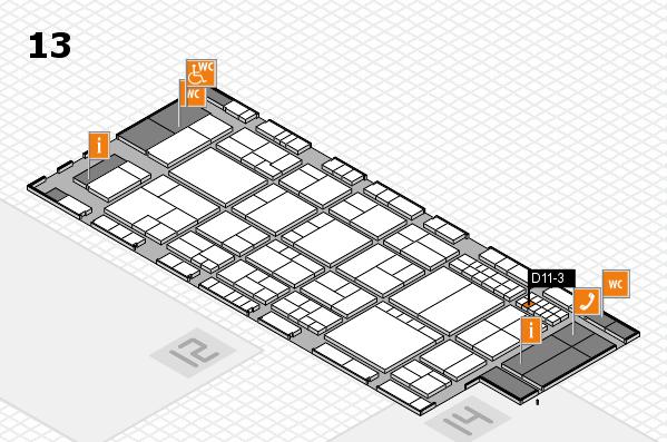 interpack 2017 Hallenplan (Halle 13): Stand D11-3